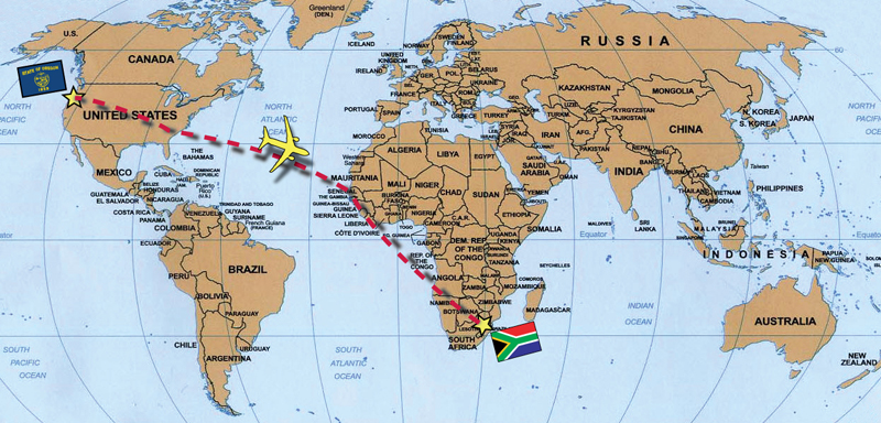 South africa jeffs parents are serving a mission for our church in johannesburg south africa and have been there 2 12 years and have never seen james world map g gumiabroncs Choice Image